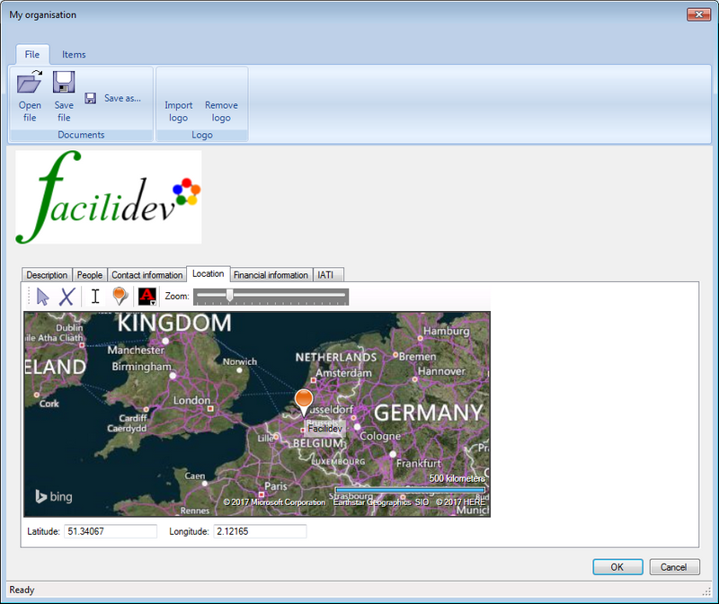 Indicate the location of your organisation's office on the map