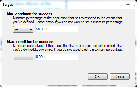 Setting the target as a percentage of the population