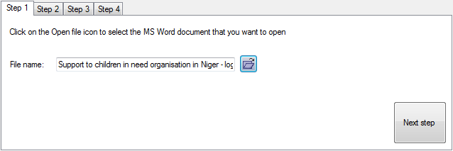 Step 1 - select the document you want to import